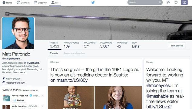 imagen Twitter está probando nuevo diseño similar a Facebook (FOTO)