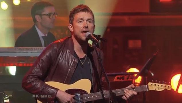imagen La presentación de Damon Albarn en el show de Jimmy Kimmel (VIDEO)