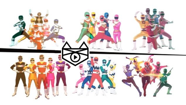 imagen La evolución de los Power Rangers: de 1993 al 2014