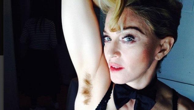 imagen Madonna tiene el sobaco peludo (FOTO)