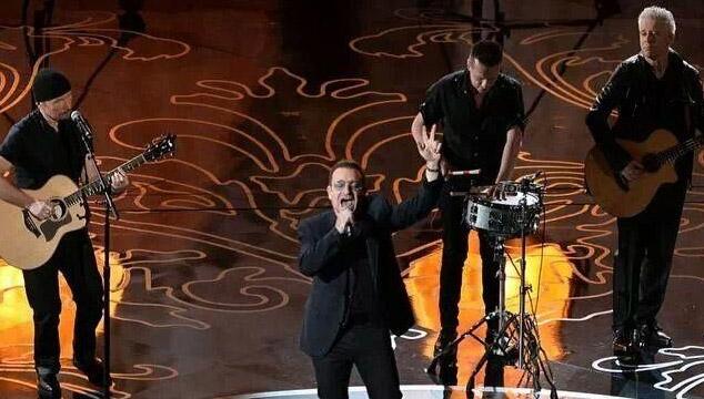 imagen La presentación de U2 en los Oscars 2014 (VIDEO)