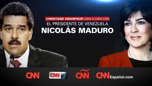 imagen Nicolás Maduro será entrevistado mañana en CNN