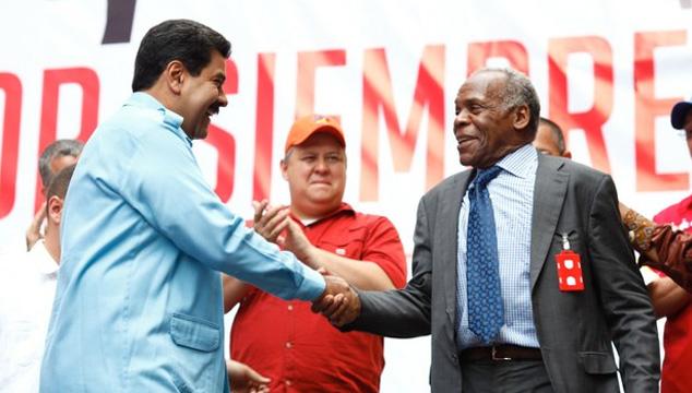 imagen El actor Danny Glover mostró su apoyo al gobierno de Maduro