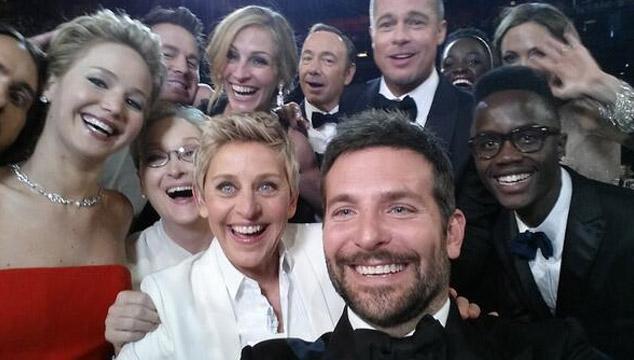 """imagen Ellen Degeneres rompe el récord del tuit más retuiteado y """"daña"""" Twitter por unos minutos"""