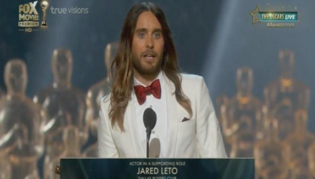 imagen El momento en que Jared Leto habló de Venezuela en los Oscars (VIDEO)