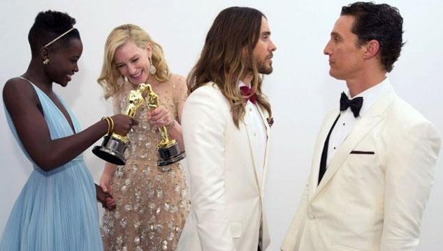 imagen ¿Dónde veremos a Matthew McConaughey, Cate Blanchett, Jared Leto y Lupita Nyong'o tras ganar el Oscar?