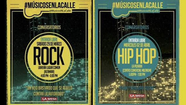 imagen Músicos en la Calle anuncia conversatorios gratuitos de rock y hip hop en Caracas