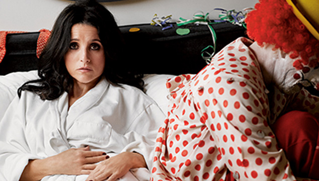 Julia Louis Dreyfus Clown Julia Louis Dreyfus se Zampa a