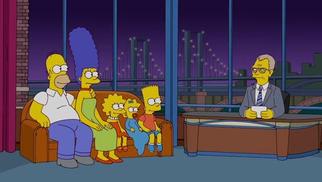 imagen El homenaje de 'Los Simpsons' a David Letterman (VIDEO)