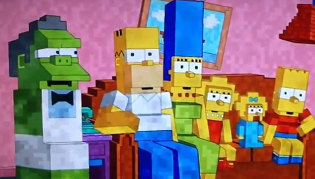 imagen El intro de 'Los Simpsons' versión Minecraft (VIDEO)