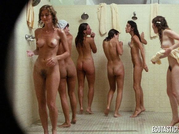 Group nake shower scene