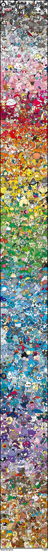 Todos los pokemones, ordenados por color, en una sola imagen (FOTO ...