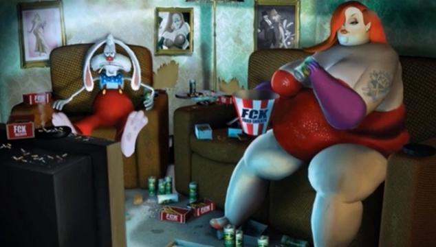 imagen ¿Qué pasó con Roger Rabbit, Garfield y otros personajes animados? Este video cómo sería su vida en la realidad