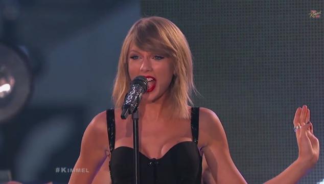 imagen Taylor Swift se presentó en el show de Jimmy Kimmel