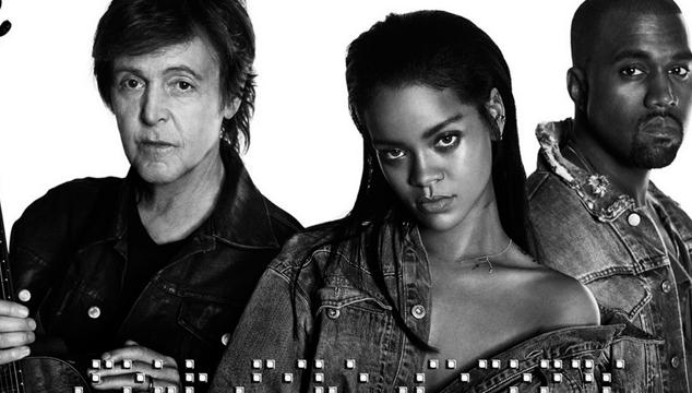 imagen Rihanna estrena tema con Kanye West y Paul McCartney