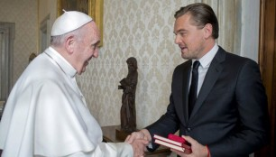 Leonardo-Di-Caprio-Papa-Francisco