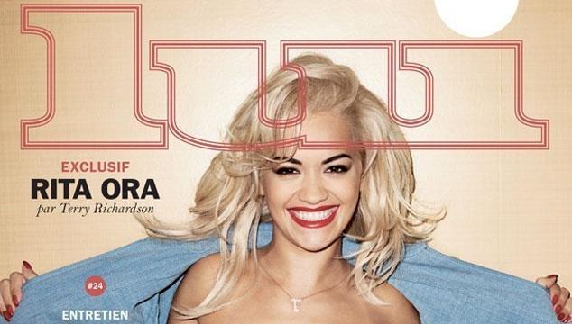 imagen Rita Ora peló las tetas en una revista para Terry Richardson