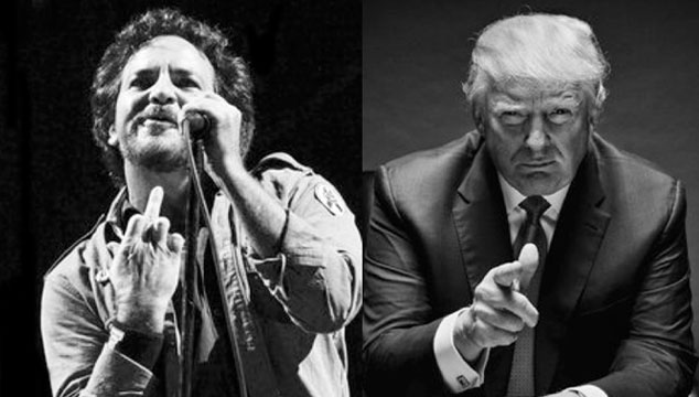 imagen Eddie Vedder se burló del tamaño del pene de Donald Trump