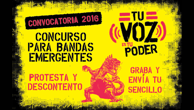 imagen Sin Mordaza lanza concurso de música Tu Voz Es Tu Poder