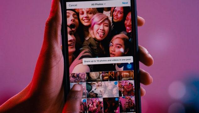 imagen Instagram ahora permite montar hasta 10 fotos de una sola vez