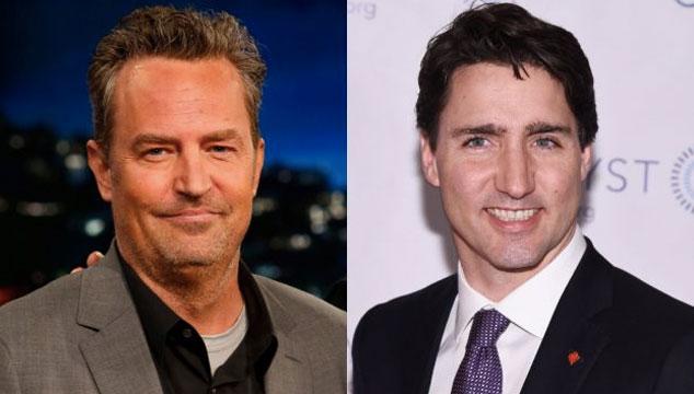 imagen Matthew Perry (Chandler de 'Friends') revela que de pequeño era el bully de Justin Trudeau, el primer ministro de Canadá