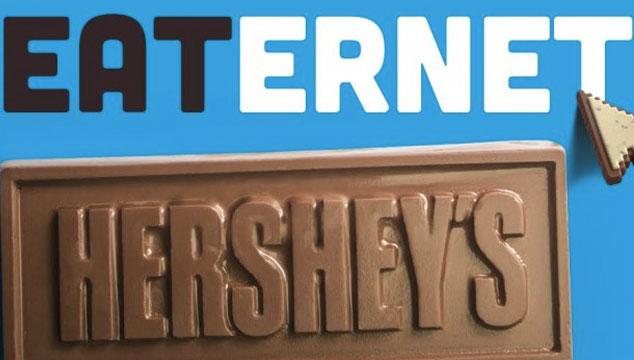"""imagen La marca de chocolates Hershey's lanza una página web """"comestible"""""""