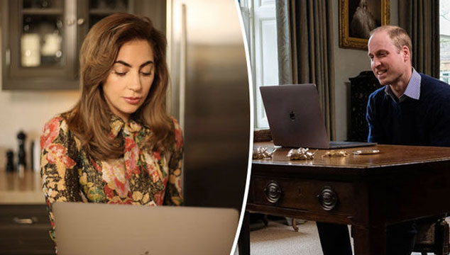 imagen Lady Gaga y el Príncipe William hablan por Facetime sobre salud mental