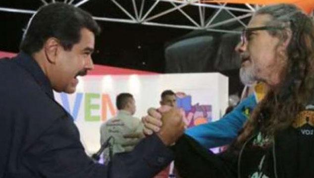 """imagen Nicolás Maduro anunció que hará """"festival rockero contra el fascismo"""" en apoyo a Paul Gillman"""