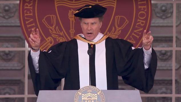 imagen El increíble discurso de Will Ferrell en una universidad, donde cantó Whitney Houston y el tema de Star Trek