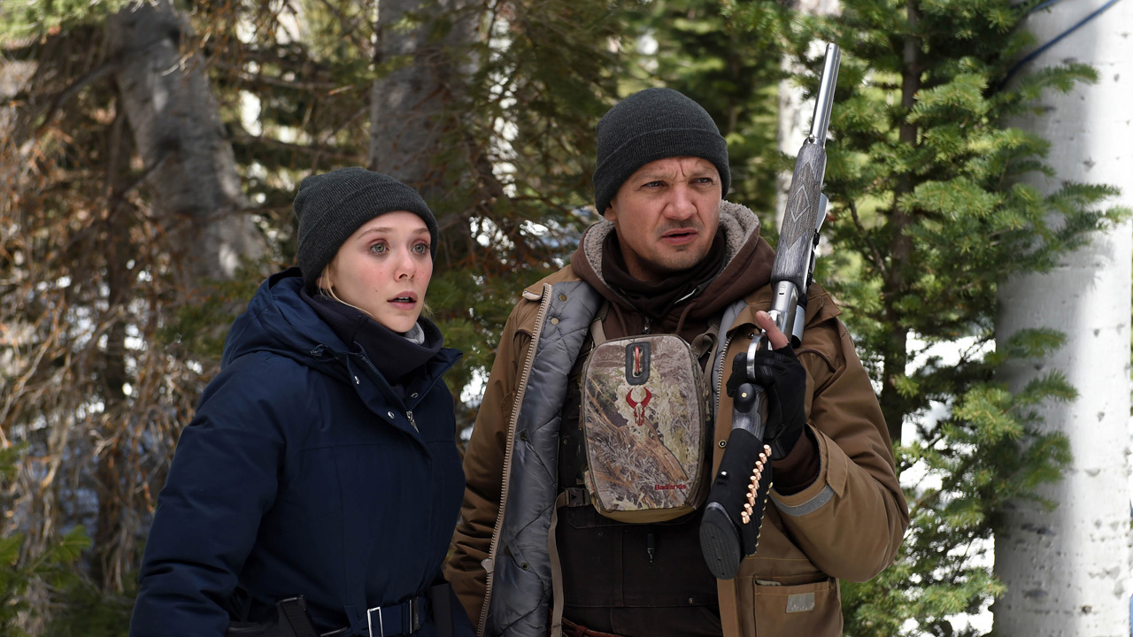 Elizabeth Olsen and Jeremy Renner appear in 'Wind River' by Taylor Sheridan, an official selection of the Premieres program at the 2017 Sundance Film Festival. © 2016 Sundance Institute.