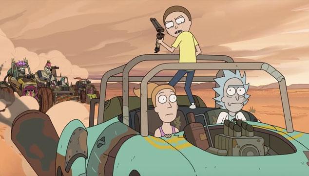 imagen Mira un adelanto del capítulo de la nueva temporada de 'Rick and Morty' inspirado en 'Mad Max'