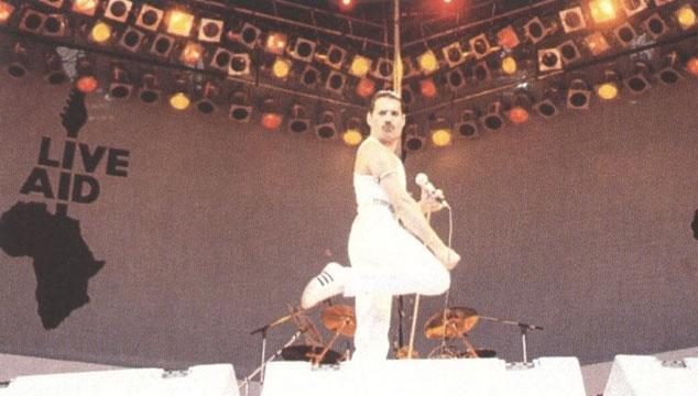 imagen Una foto del escenario del 'Live Aid' recreado para la película de Queen