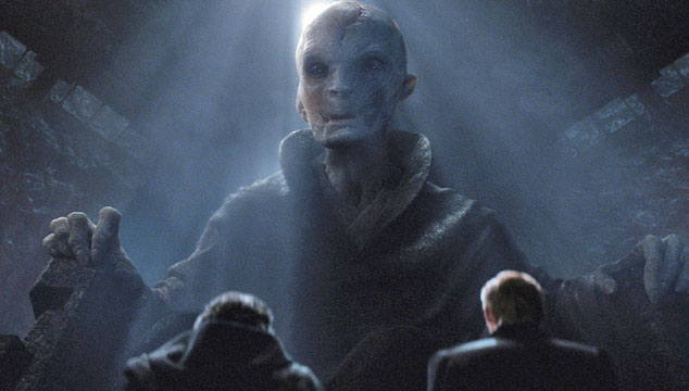 imagen Primera imagen no holográfica oficial del Supremo Líder Snoke de 'Star Wars'