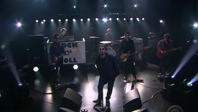 imagen Liam Gallagher cantó 'Wall of Glass' en el show de Corden
