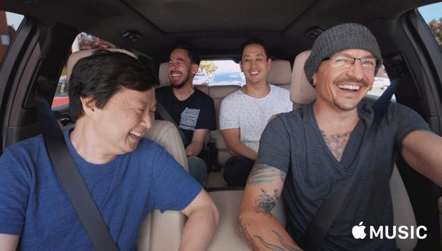 imagen Mira el capítulo de 'Carpool Karaoke' con Linkin Park, grabado una semana antes del suicidio de Chester Bennington