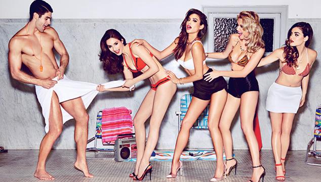 Las Chicas De Pretty Little Liars Con Muy Poca Ropa Para Gq